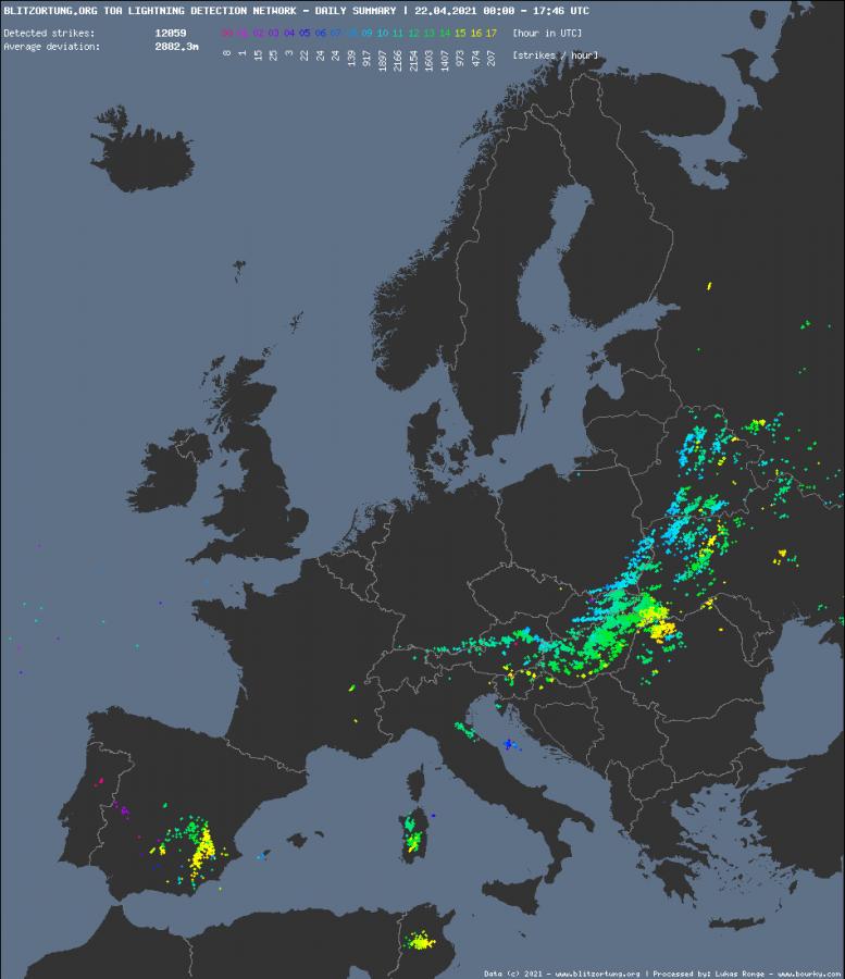 Blesky - Evropa