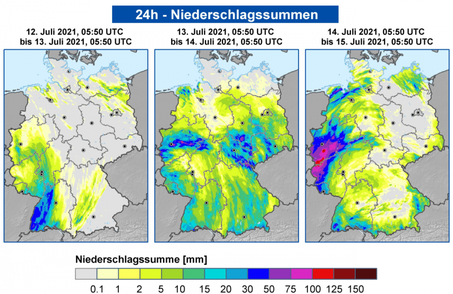 Srážky Německo