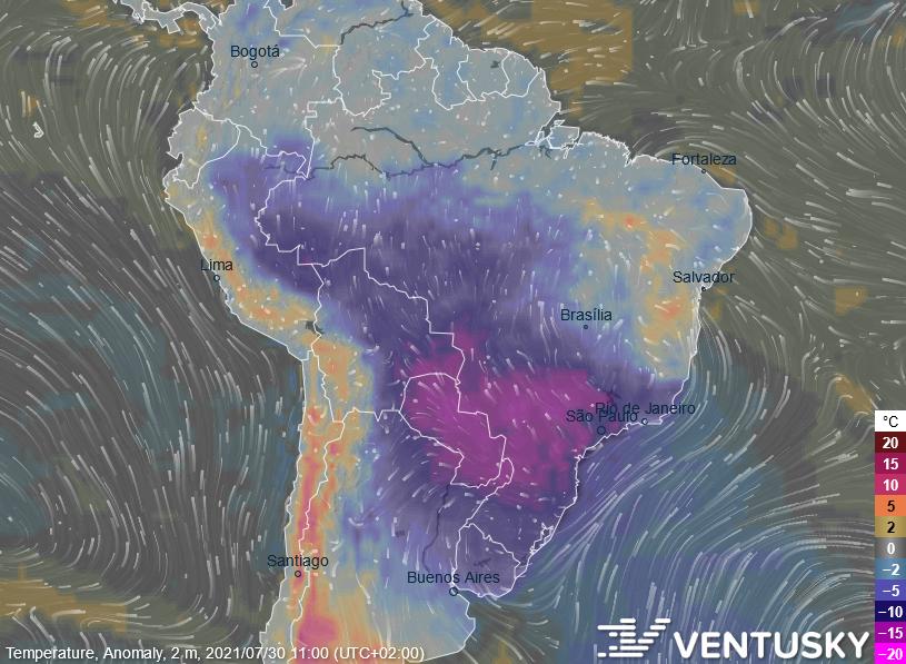 Teplota - Brazílie