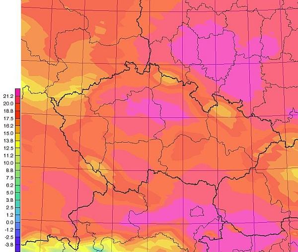 Konec dubna s teplotami nad 20 °C
