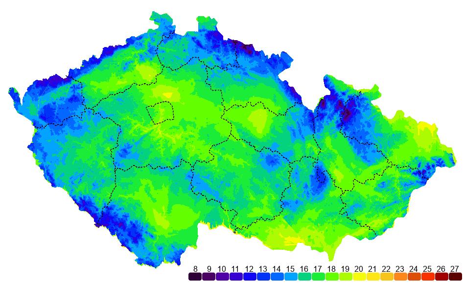 teplotní mapa