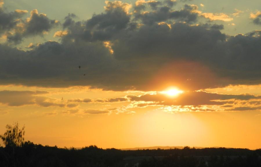 Oblaka při západu Slunce