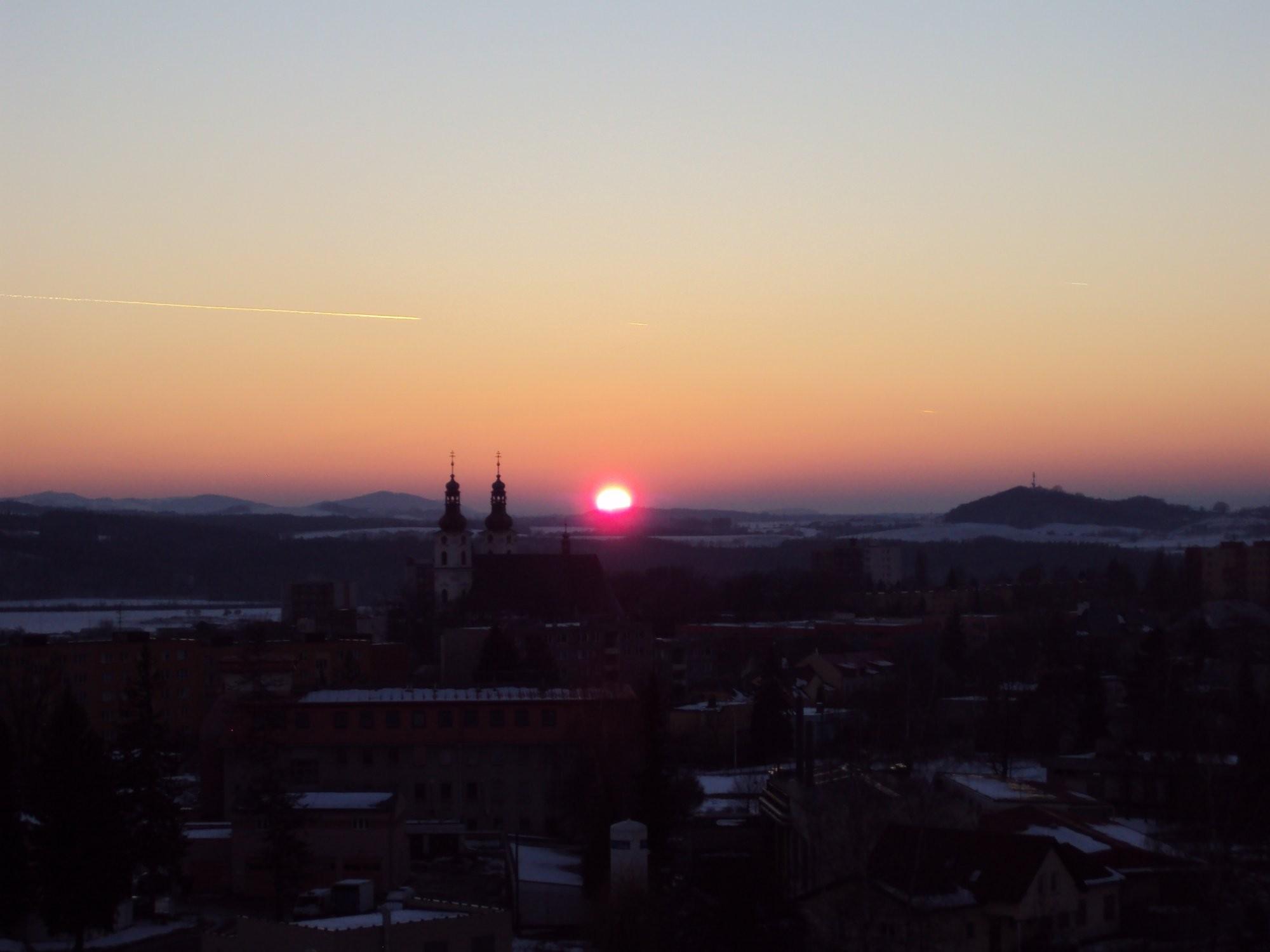 Západ slunce Frýdek