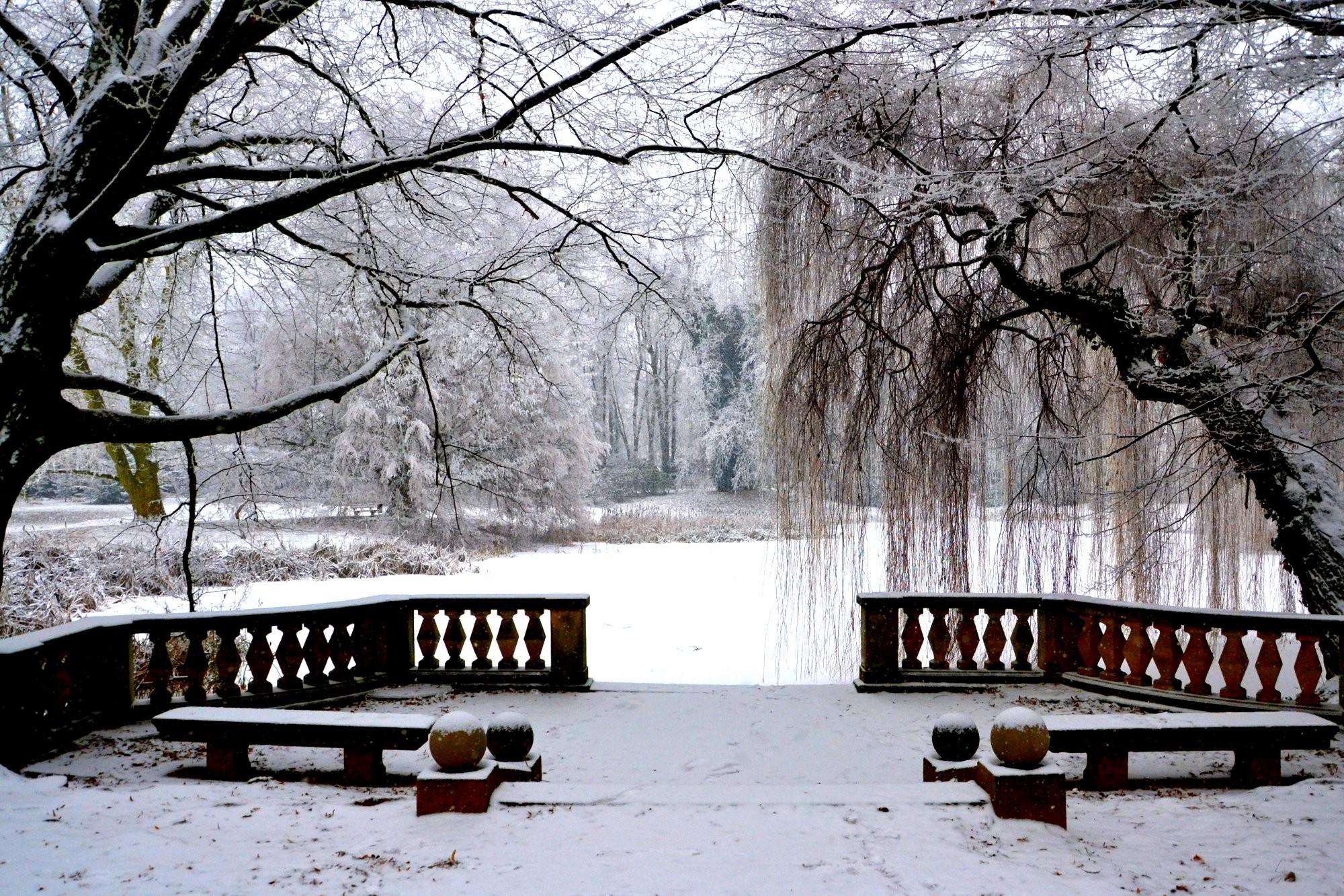 Ojíněná zámecká zahrada