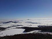 Zima České středohoří