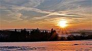 Zima - Západ slunce