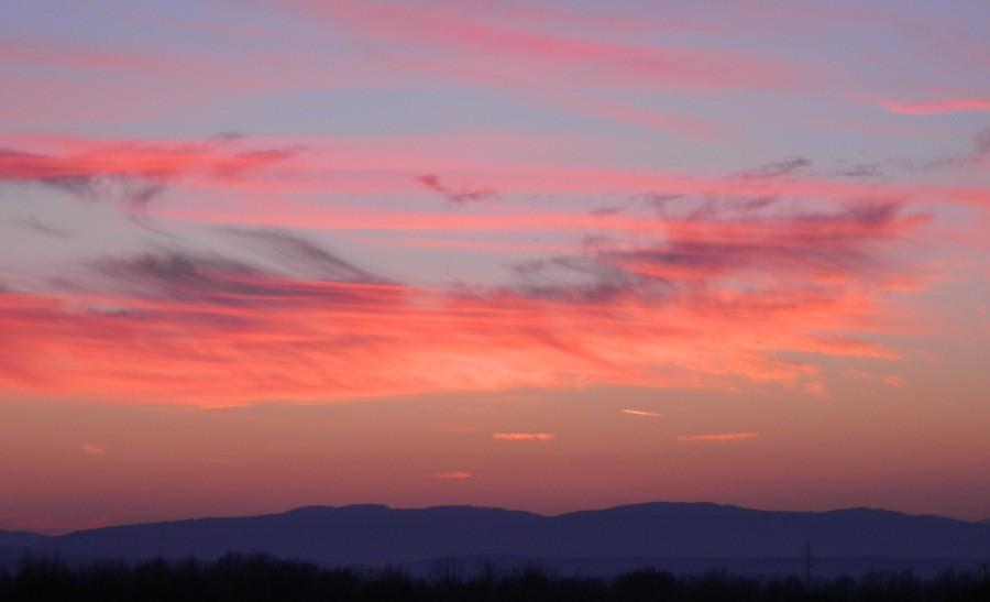 Cirrus při západu slunce