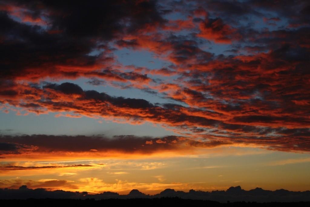 Míšov - podvečerní obloha