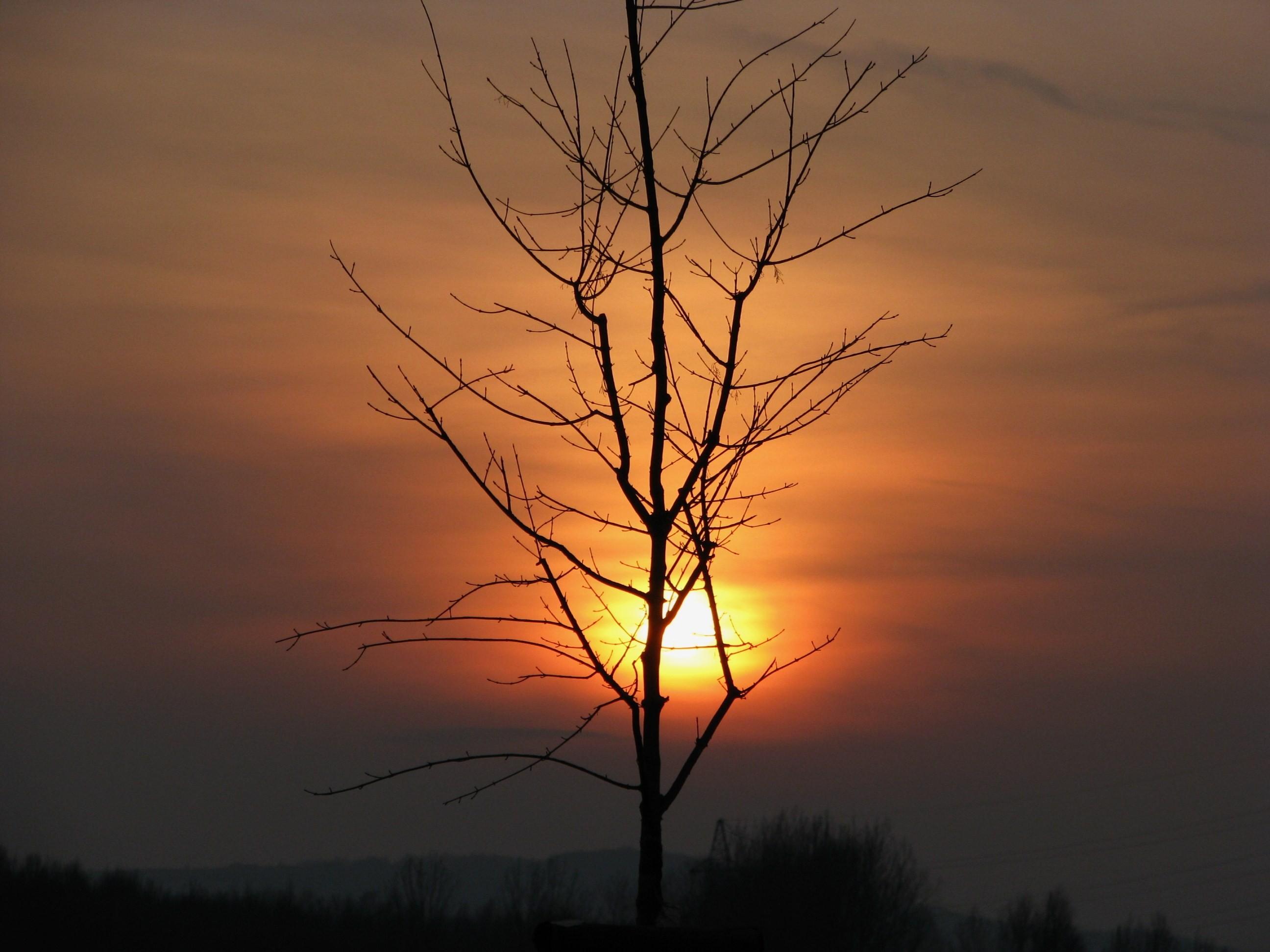 Lednový západ Slunce