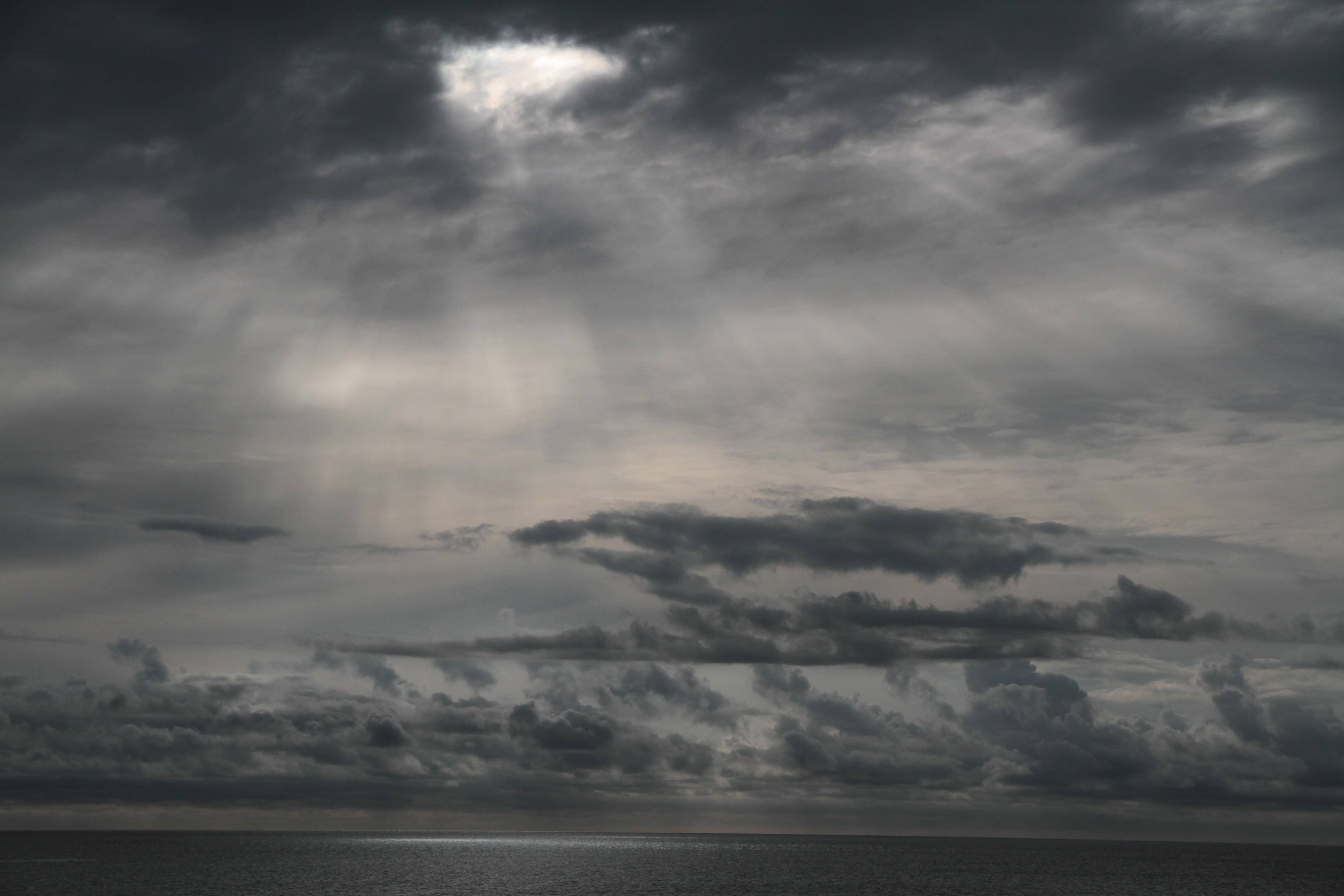 Německo - oko v oblaku