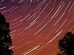 Star trails in one hour
