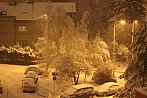 Večerní sněžení