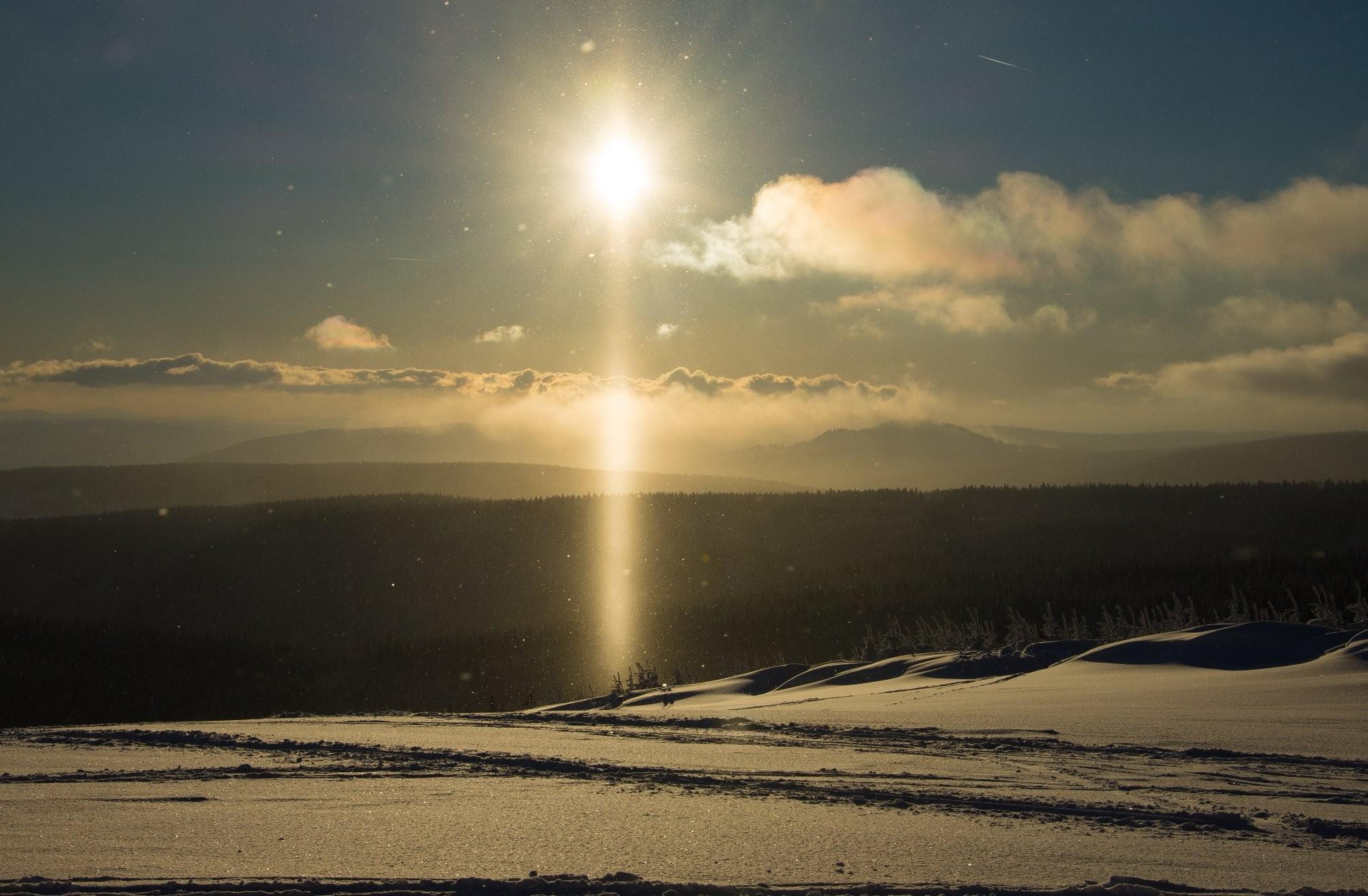 Halový sloup v Krušných horách
