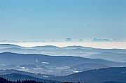 Výhled na Alpy z Pancíře