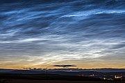 Výrazná noční svítící oblaka
