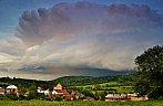 Shelf cloud na Chrudimsku