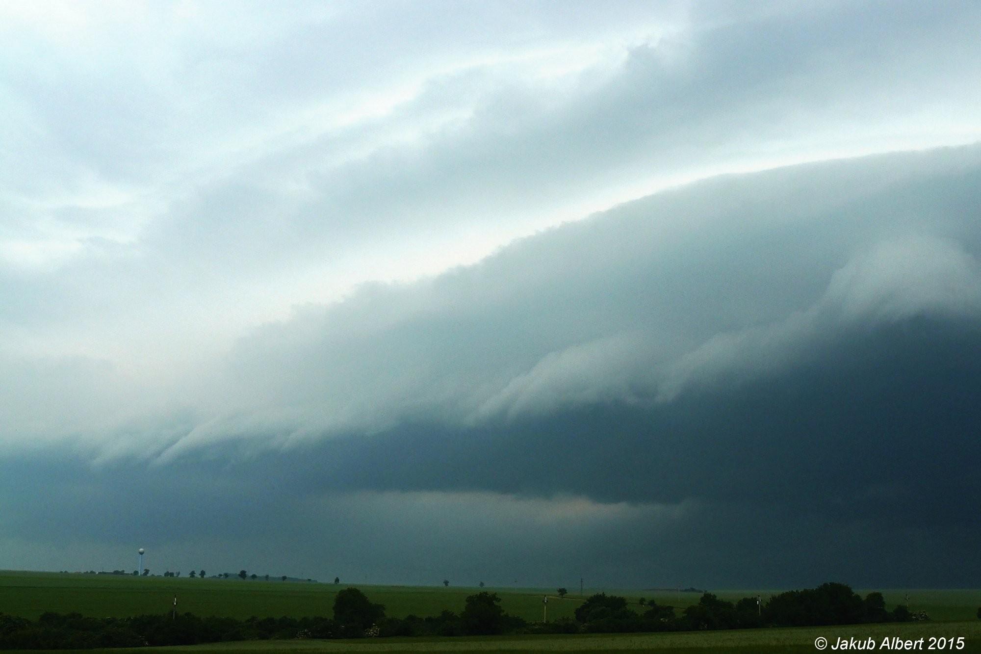 Příchod bouřky na Litoměřicko