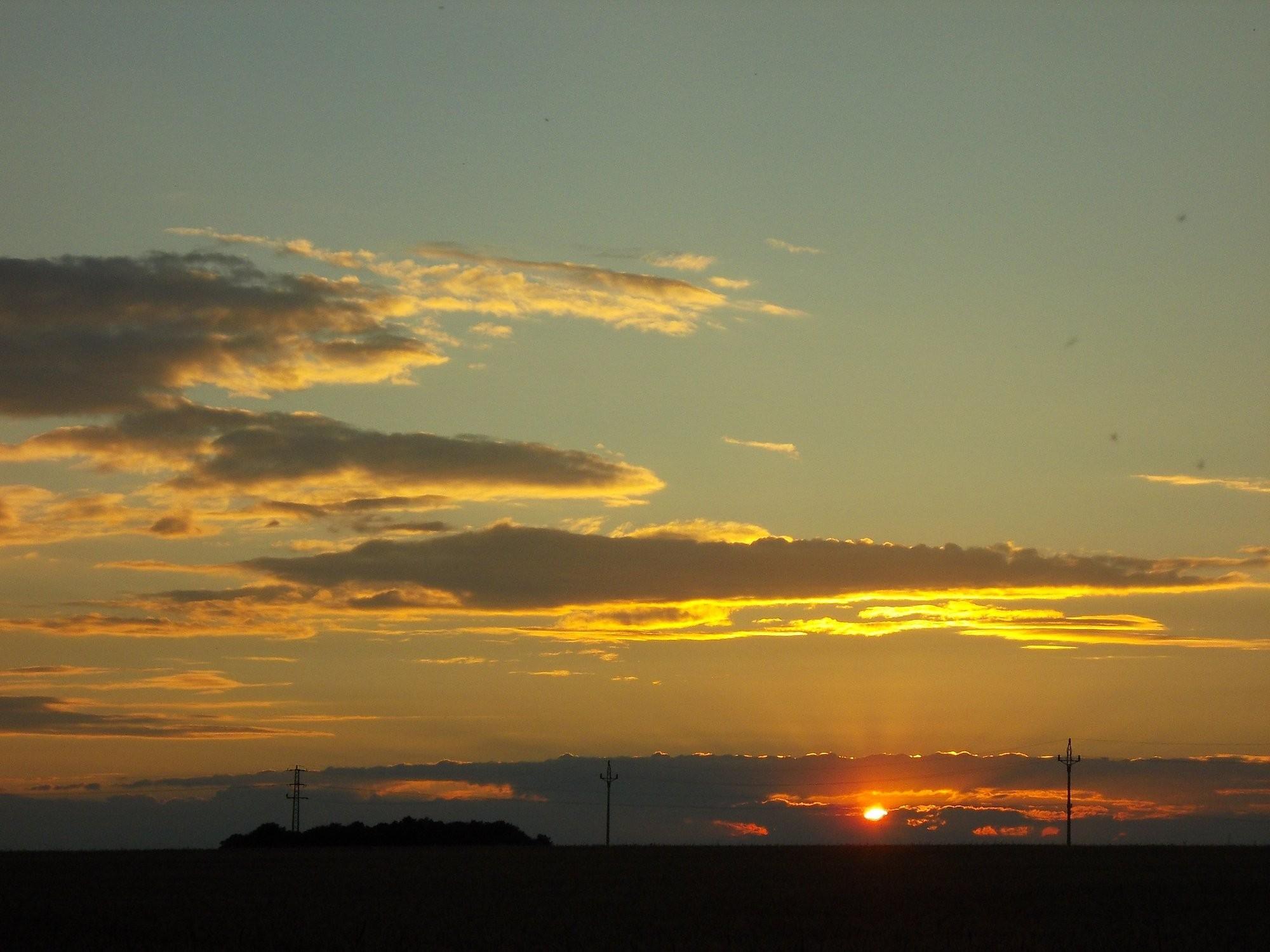 Západ slunce - 14.7.2014 20:56