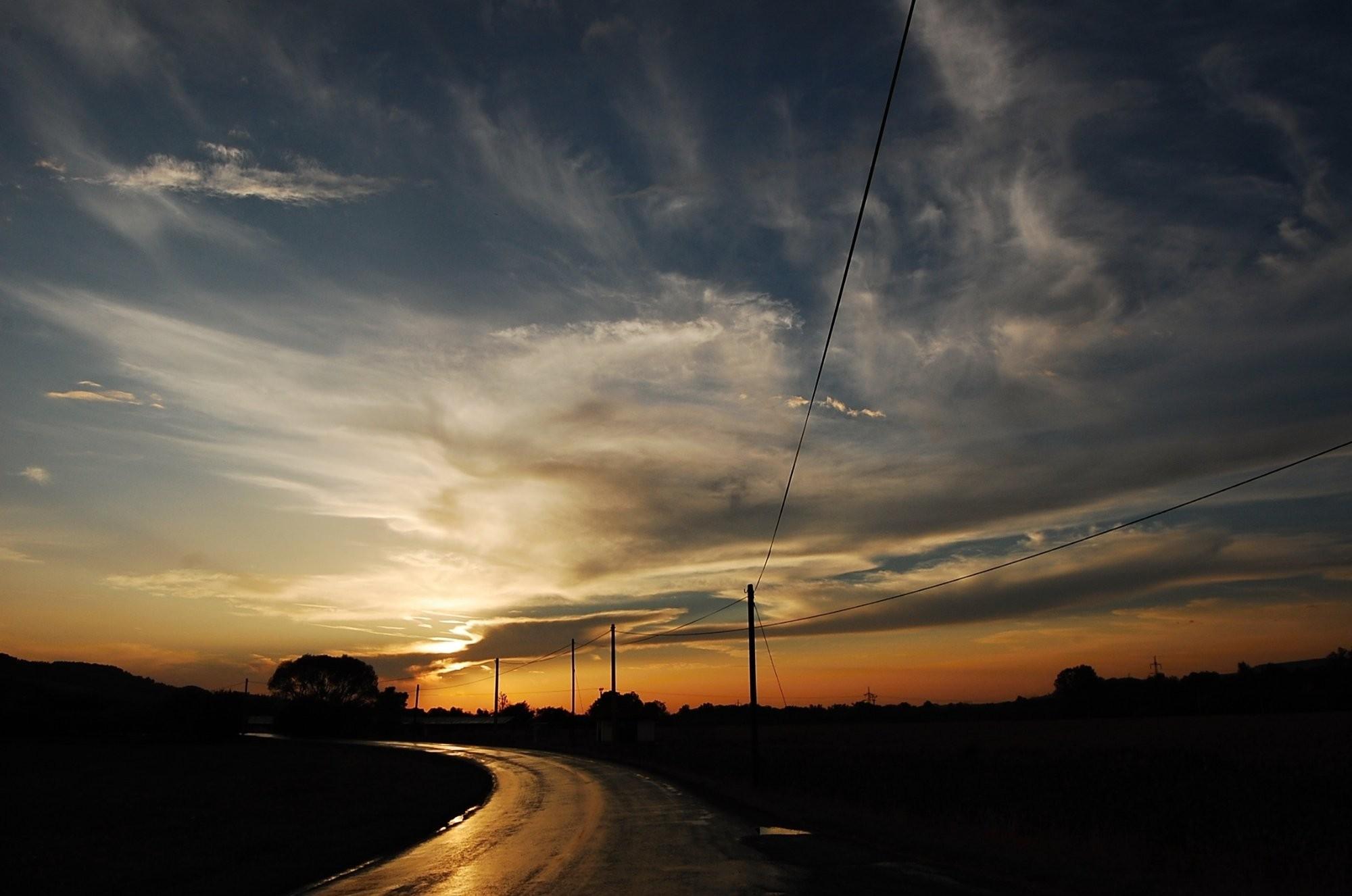 Západ slunce po bouřce