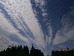 Ranní oblaka po bouřce