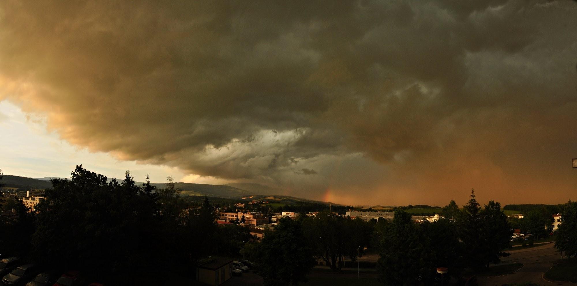 Bouřka ve Vrchlabí