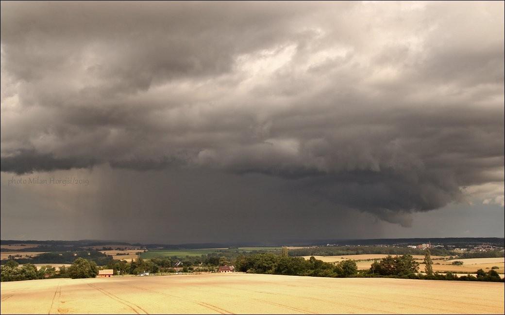 Bouřka nedaleko Bechyně