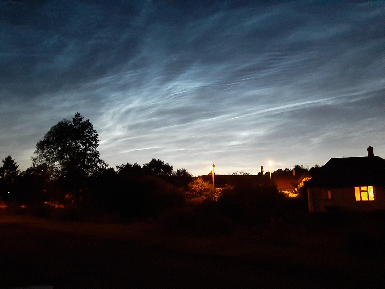 Svítíci oblaka 5.7.2020 nad Bojanov