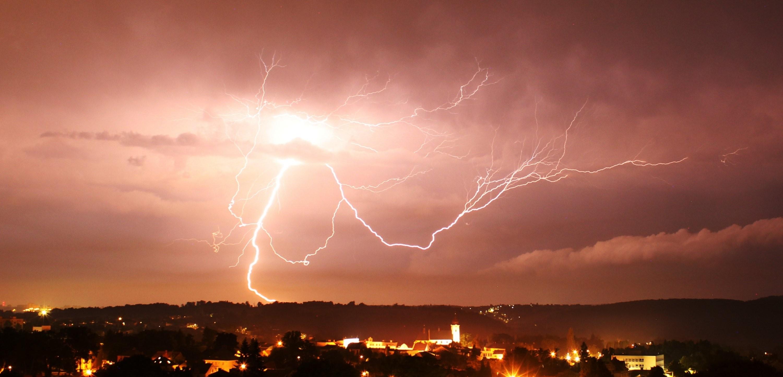 Bouřka nad Ostravou