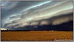 Silná bouře nad Prahou
