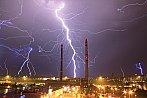 Noční bouřka v Praze - Michli