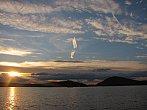 Západ slunce nad Machovým jezerem