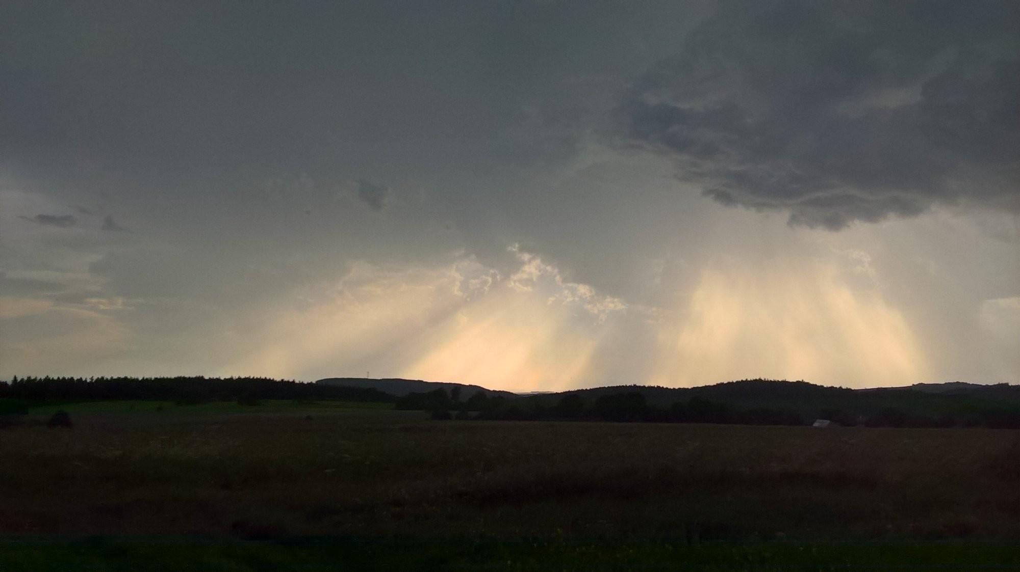 Bouřka v Orlických horách