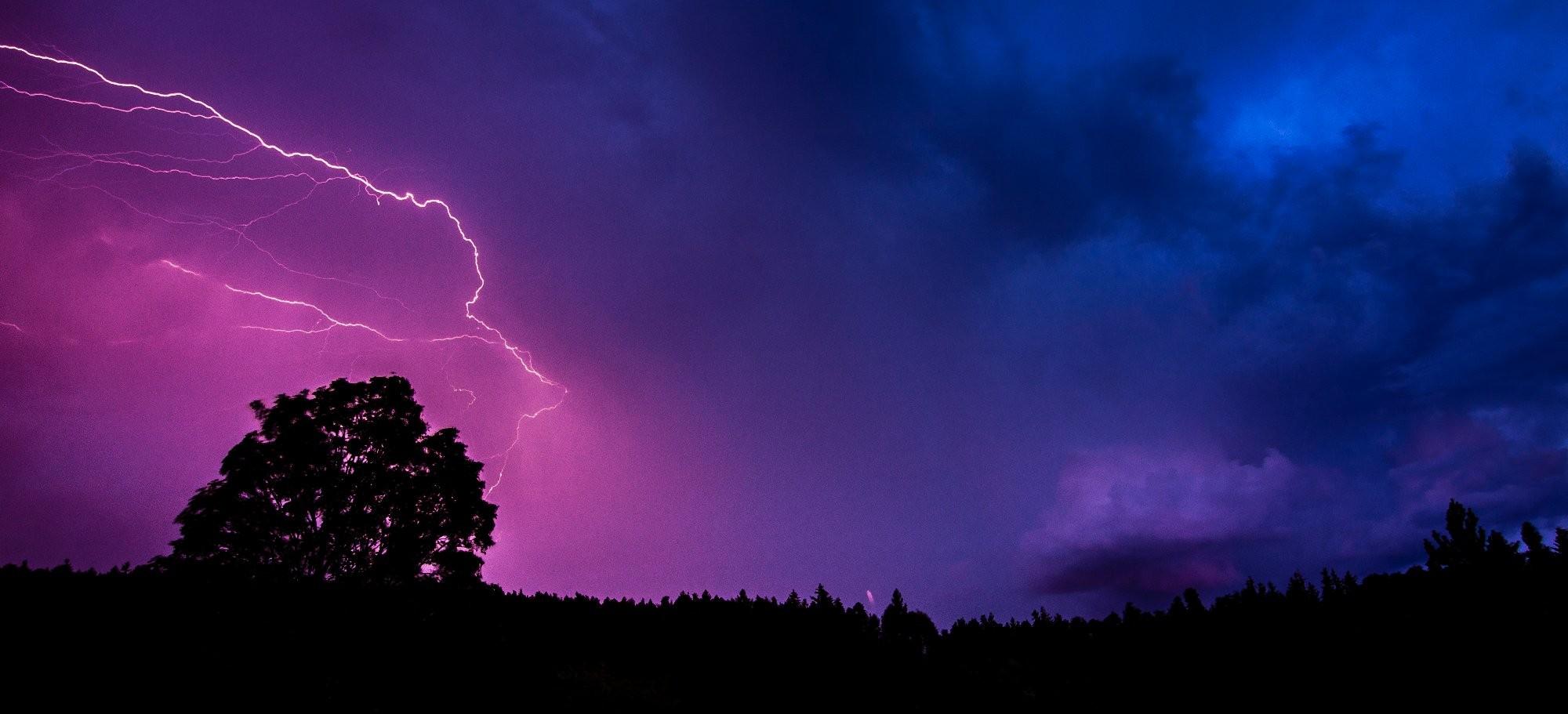 Bouřka v CHKO Brdy