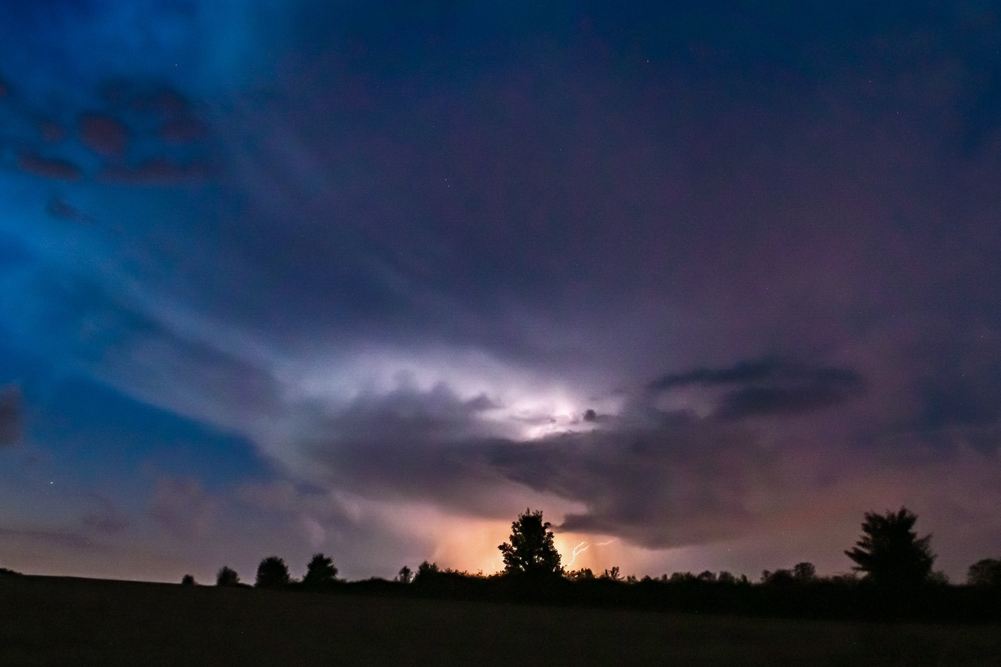 Bouřka nedaleko Bíliny