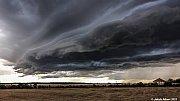 Shelf cloud z Litoměřicka