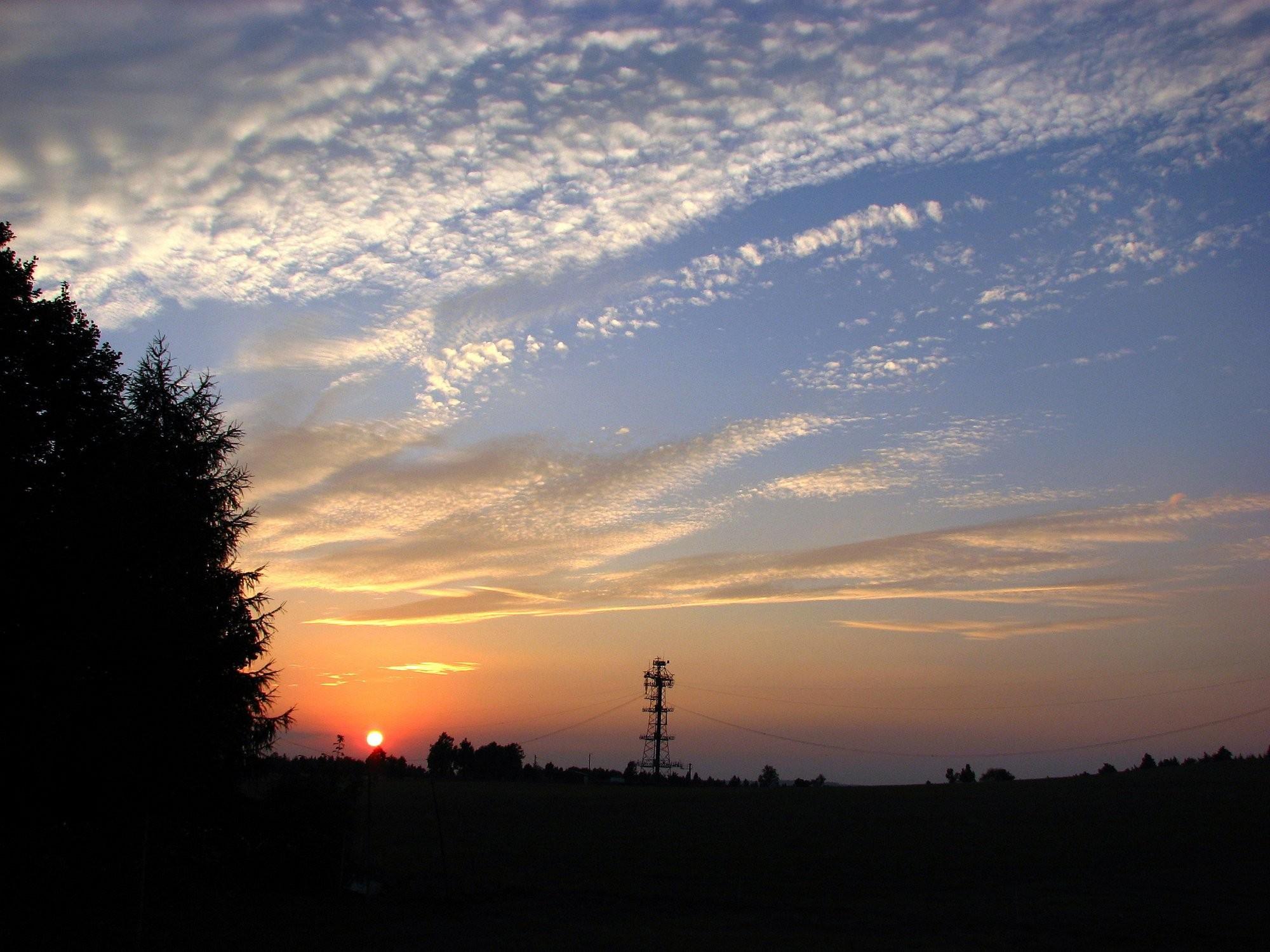 Západ slunce na Vysočině