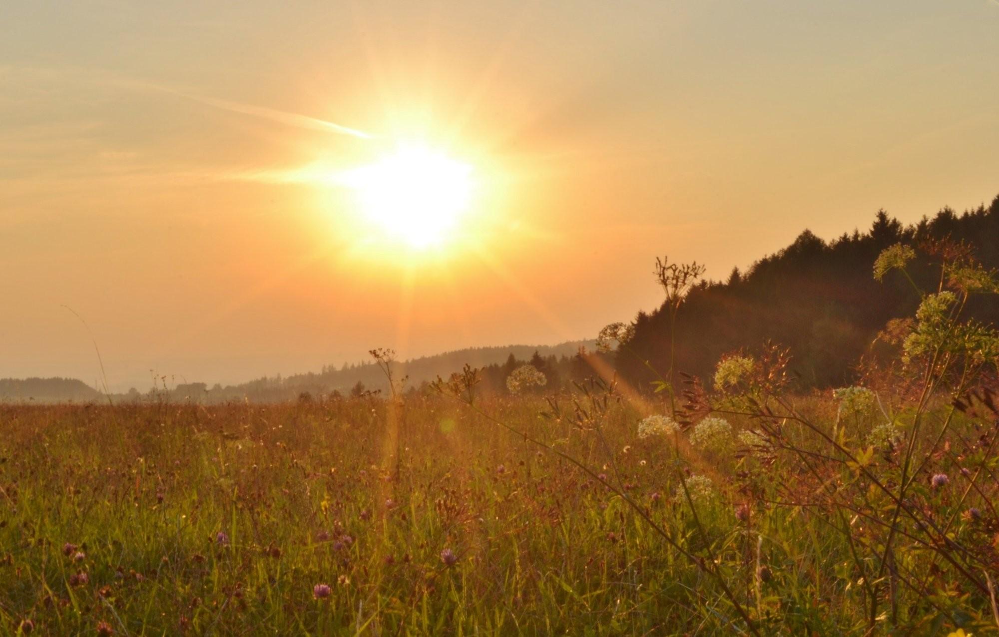 Korona kolem slunce v Seči