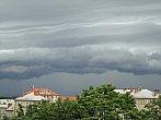 Bouřkové mraky nad Ostravou