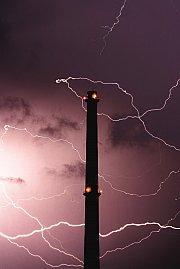 Blesky okolo Maloměřického komína