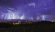 Dnešní noční bouře na jihu Čech