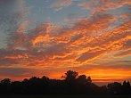 Hořící obloha po západu Slunce