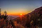 Západ Slnka nad horským prechodom Čertovica