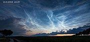 Noční svítící oblaka, Podbořansko