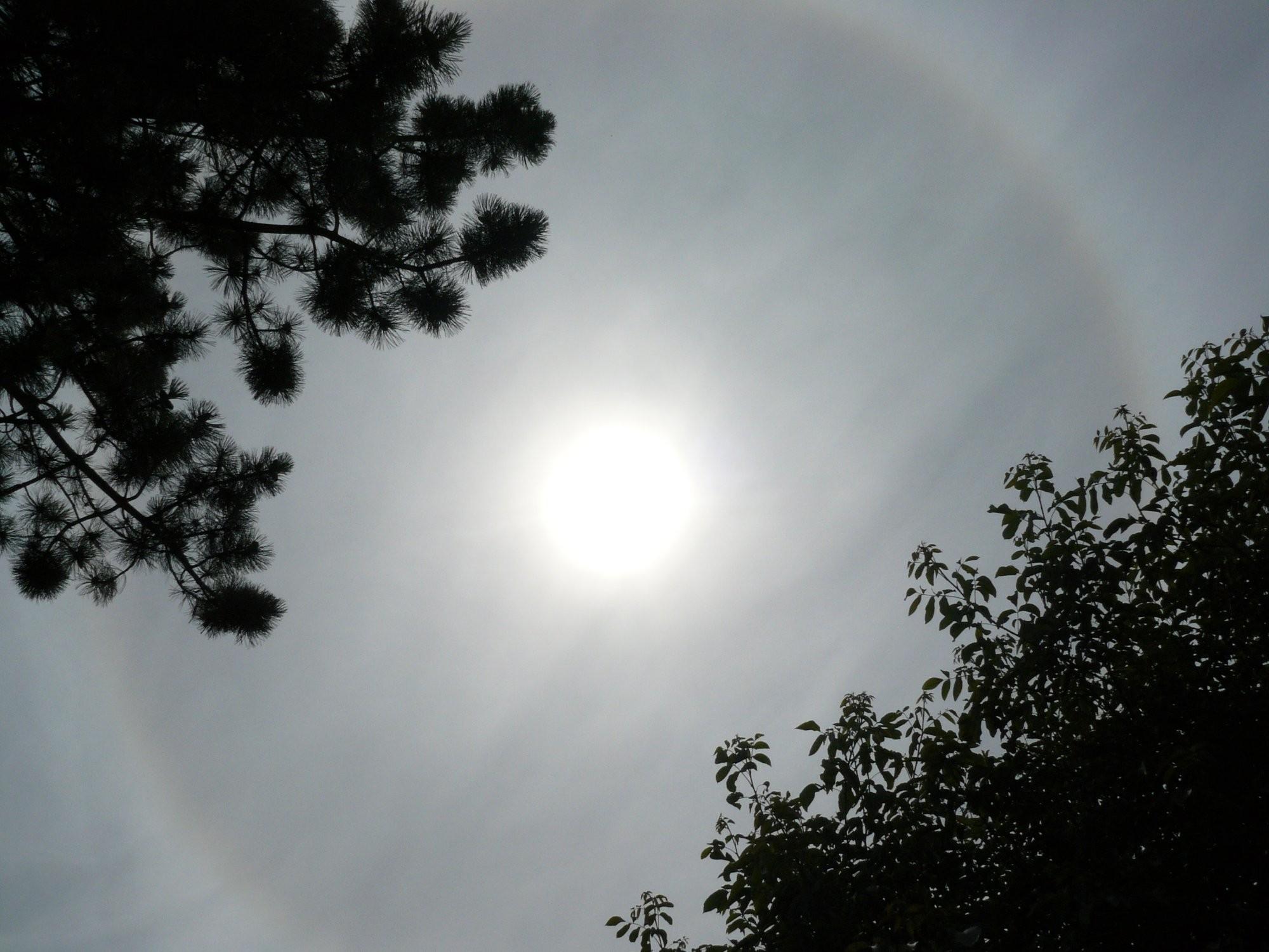 Kruh kolem slunce 23.7.2013 11:06