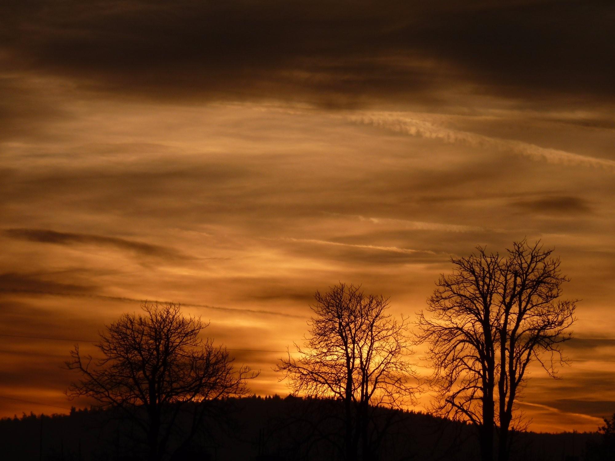 Západ slunce nad Jirkovem