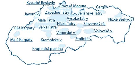 Mapa hor
