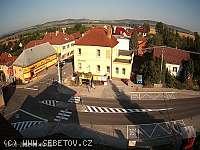 Záběr z webkamery Šebetov