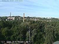 Záběr z webkamery Bystřany