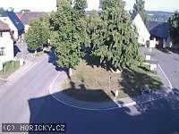 Záběr z webkamery Hořičky