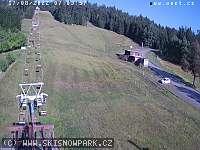 Záběr z webkamery Nové Město na Moravě